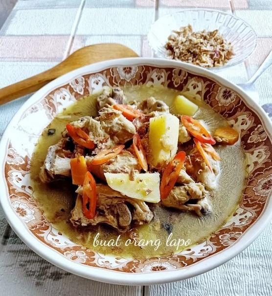 resipi sup ayam pekat dan sedap